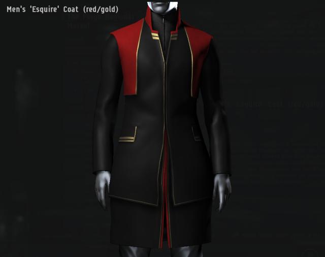 Men's 'Esquire' Coat (red・gold).png