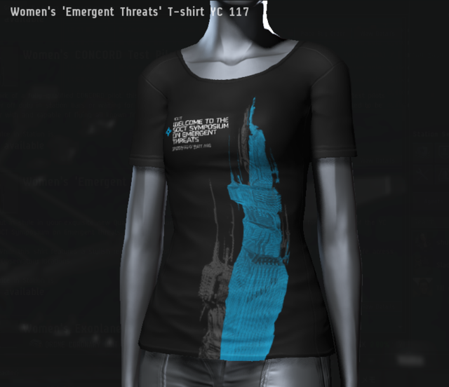 Women's 'Emergent Threats' T-shirt YC 117.png