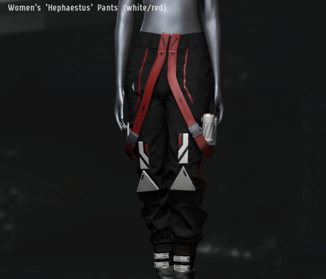 Women's 'Hephaestus' Pants (white.red).png