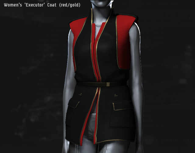 Women's 'Executor' Coat (red・gold).png