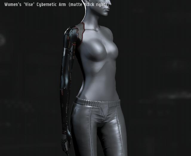 Women's 'Vise' Cybernetic Arm (matte black right).png